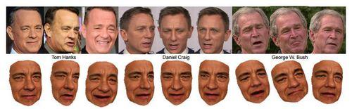 Американские программисты научились создавать контролируемые трёхмерные модели лиц на основе фотографий