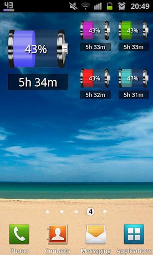 Battery indicator pro 1.2.4 - продвинутый индикатор батареи