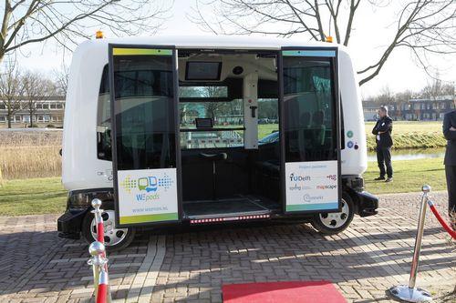 Беспилотные электроавтобусы выпустили на дороги нидерландов (5 фото + видео)
