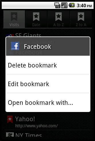 Bookmarks light 1.0 - все закладки в одном месте