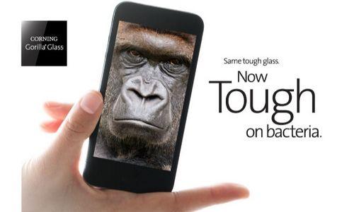Corning сделала антибактериальное защитное стекло gorilla glass