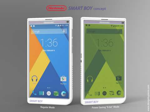 Дизайнер пьер серву представил концепт смартфона nintendo smart boy