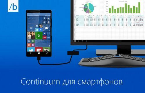 Функция continuum от microsoft расширит возможности смартфонов