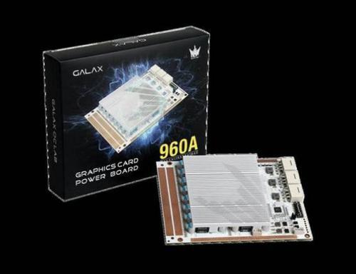 Galax graphics card power board — внешняя плата для экстремального разгона видеокарт, оснащённая 16-фазной подсистемой питания