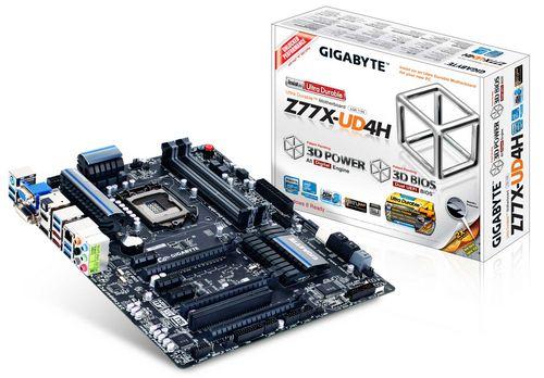 Gigabyte ga-z77x-ud4h: системная плата для процессоров intel