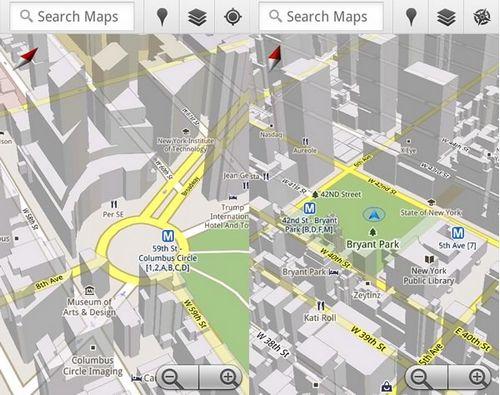 Google выпустила google maps 5.0 для android с 3d картами