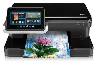 Hp photosmart e-station - струйные принтеры со съёмным планшетом (12 фото)
