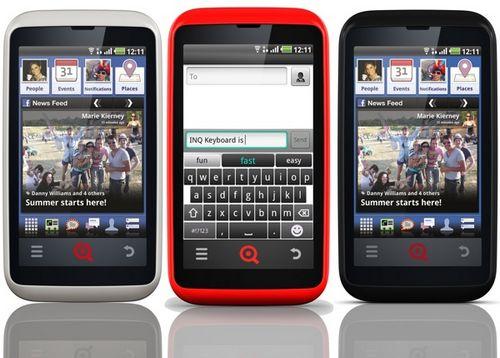 Inq mobile анонсировала ориентированный на facebook и социальное общение смартфон