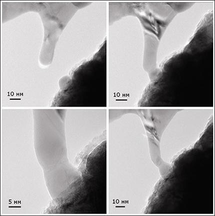 Эффект «холодной сварки» наноструктур