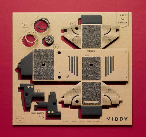 Картонная фотокамера viddy собирает деньги на kickstarter