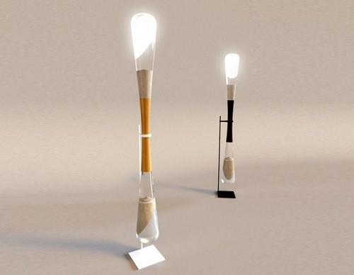 Лампа на энергии от песочных часов