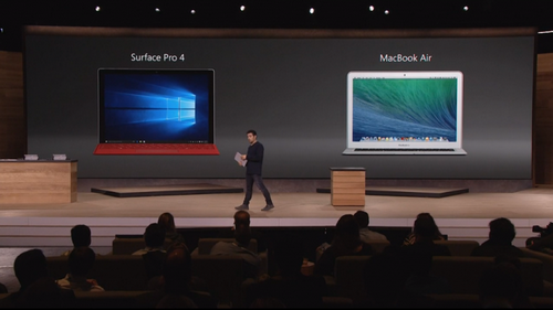 Microsoft surface pro 4 на 50% мощнее macbook air