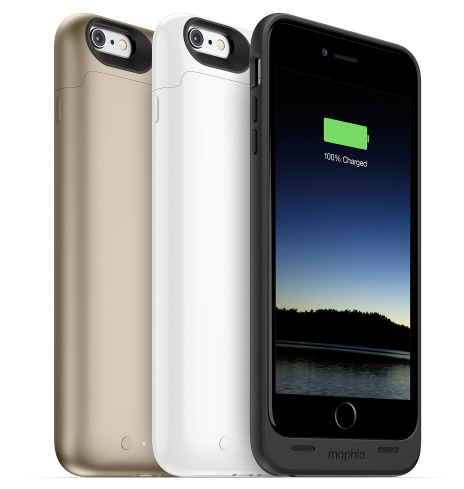 Mophie представила три новых чехла с аккумуляторами для смартфонов apple iphone 6 и iphone 6 plus