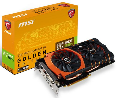 Msi представила видеокарту gtx 980ti gaming 6g golden edition
