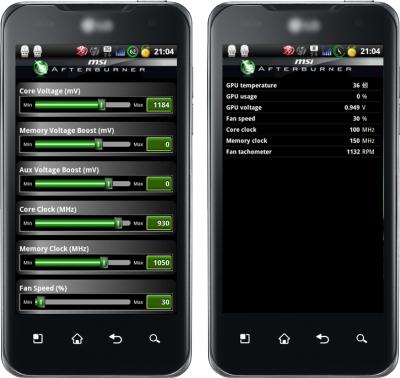 Msi создала android-утилиту для удаленного оверлокинга графических карт