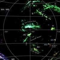 На первой космической карте млечного пути обнаружен аномально движущийся газ