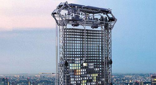 Небоскреб будущего напечатает квартиру сразу после покупки (5 фото)