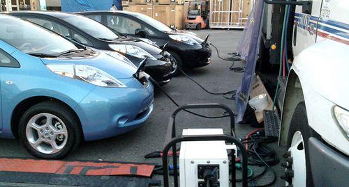 Nissan работает над проектом суперскоростной зарядной станции для электромобилей
