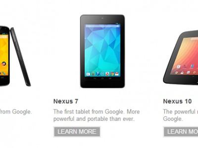 Новые nexus-устройства вышли в продажу, старые получают android 4.2