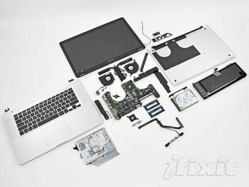 Новый apple macbook pro разобран на детали (14 фото)