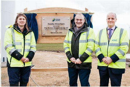 Открытие крупнейшей береговой ветроэлектростанции в англии