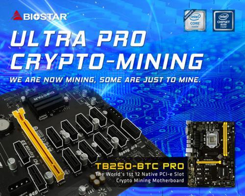 Представлена системная плата biostar tb250-btc pro с 12 слотами pcie
