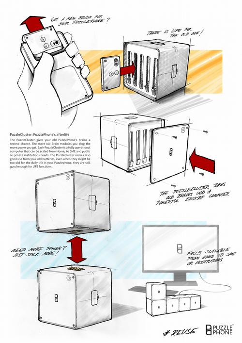 Puzzlecluster: собираем морально устаревшие части модульного телефона в модульный суперкомпьютер