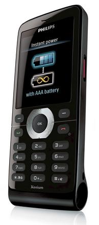 Разработан первый мобильный телефон на aaa-батарейке