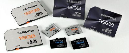 Samsung анонсировал скоростные sd-карты