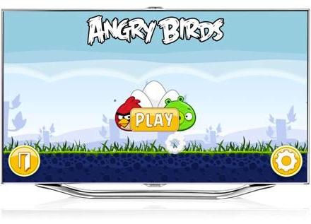 Samsung выпустил angry birds для владельцев телевизоров в россии