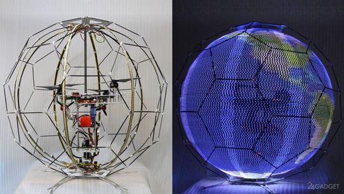 Сферический рекламный led-дрон из японии (видео)