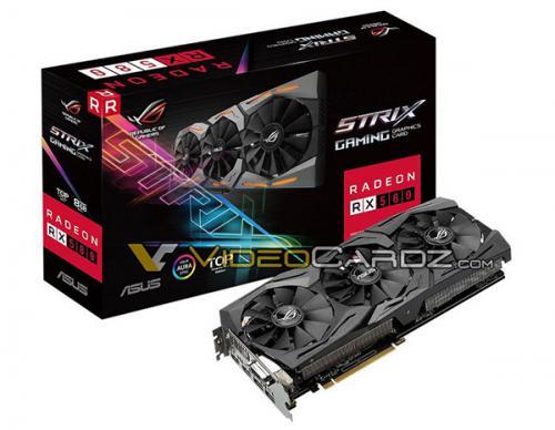 Система охлаждения видеокарты asus rog strix rx 580 gaming насчитывает три вентилятора