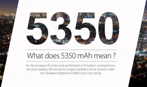 Смартфон elephone p5000 оснащен аккумуляторной батареей емкостью 5350 ма·ч и дактилоскопическим датчиком