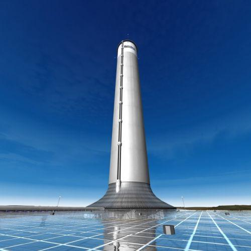 Солнечная башня вырастет в пустыне аризоны