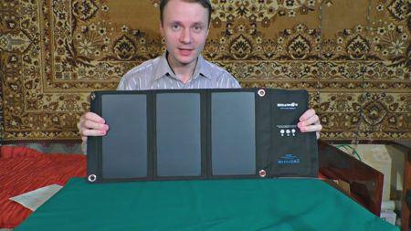 Солнечная батарея для зарядки планшета