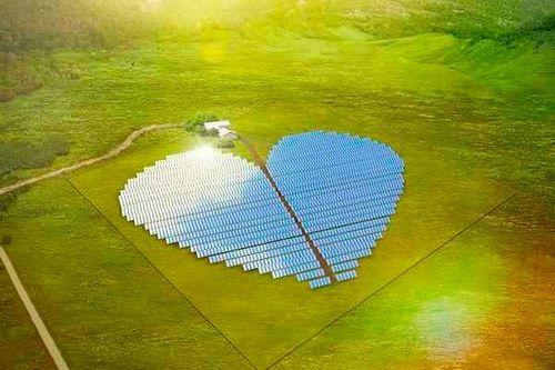 Солнечная электростанция в форме сердца