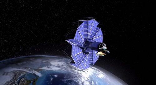 Солнечная панель для космических аппаратов по принципам оригами