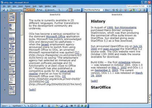 Staroffice 6.0 – новый локализованный офисный пакет от sun