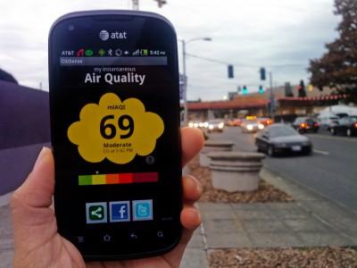 Учёные изучают уровень загрязнения воздуха с помощью смартфонов