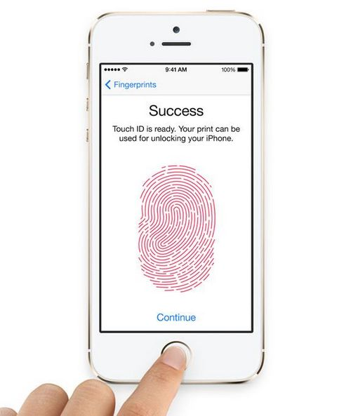 В iphone 5s будет сканер отпечатков пальцев?