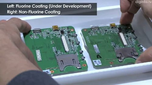 Water resistant coating for mobile phone circuit boards (video)