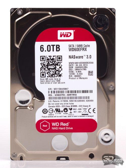 Wd представила 6-терабайтный накопитель для домашних и офисных сетевых хранилищ
