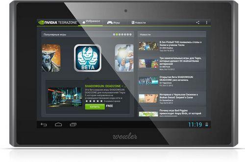 Wexler.tab 7t: планшет на платформе nvidia tegra 3