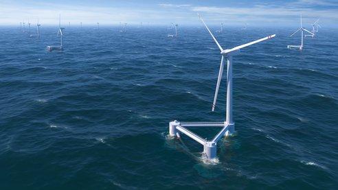 Windfloat: первая плавучая ветровая электростанция в атлантическом океане